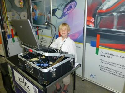 Ein Nachwuchs-DJ
