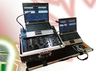 DJ Mischpult mit Laptop