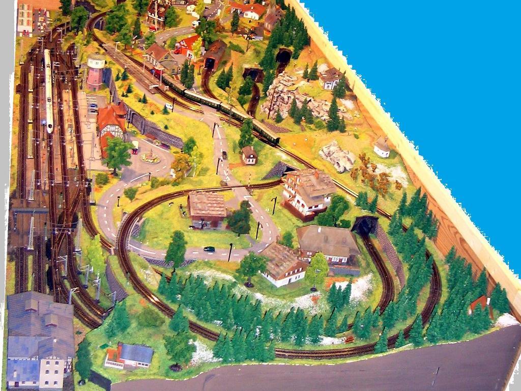 Modellbahnnlage in Spur N
