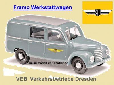 Framo Verkehrsbetriebe Dresden Werkstattwagen