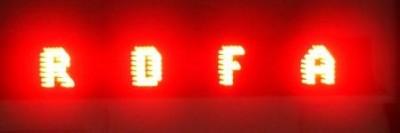Laufschrift-Board mit extrem leuchtstarken LED